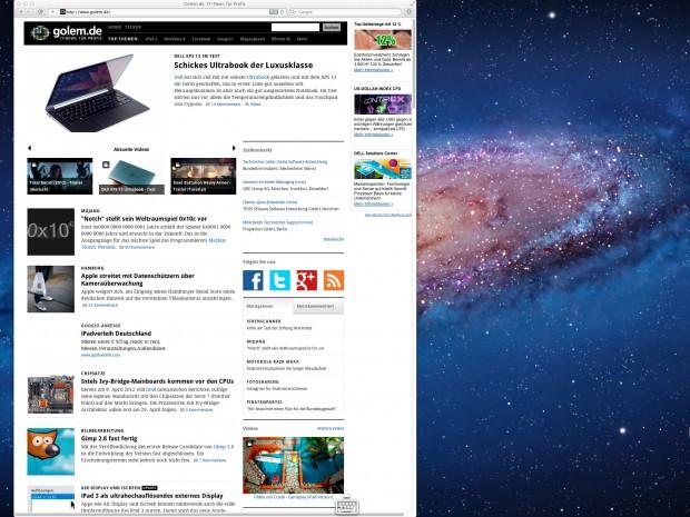 Air Display - iPad 3 als externer Bildschirm (Bild: Golem.de)