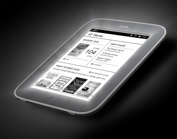 Nook Simple Touch with Glowlight - der E-Book-Reader mit integrierter Beleuchtung (Bild: Barnes & Noble)