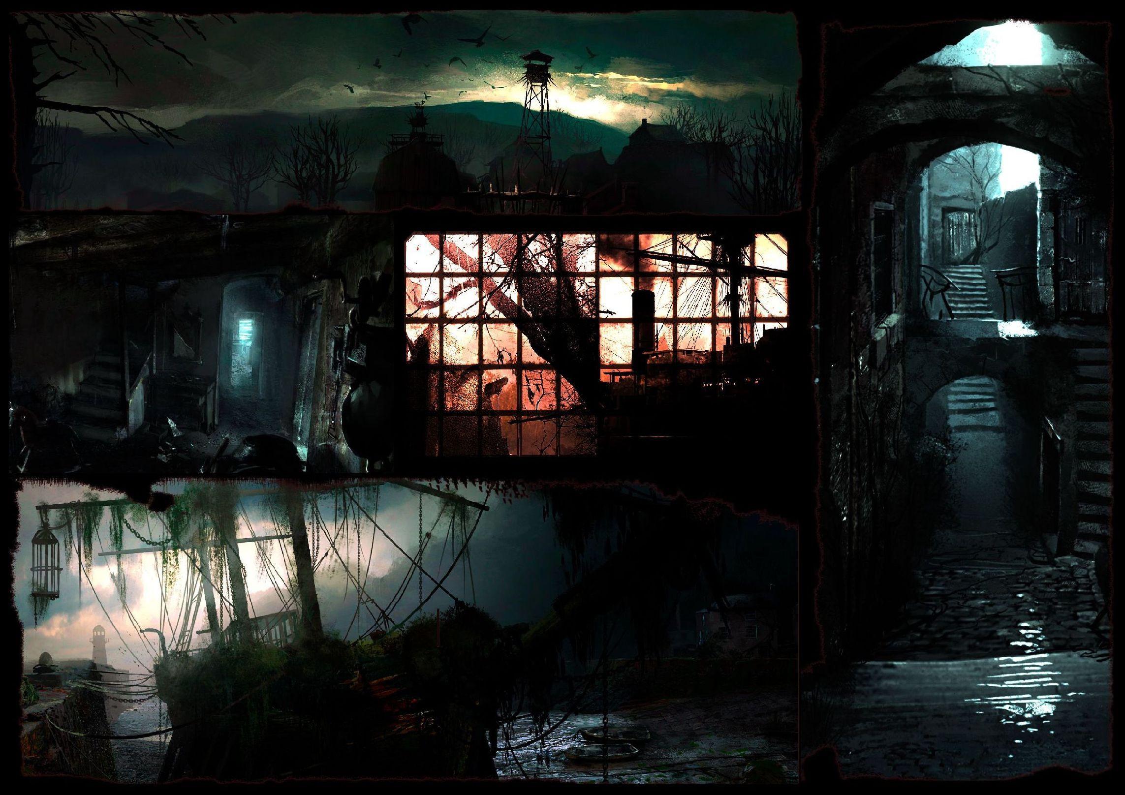 Zwei: Survival-Horror vom Meister - Zwei - die ganze Konzeptbild-Collage (Bild: Bethesda Softworks)