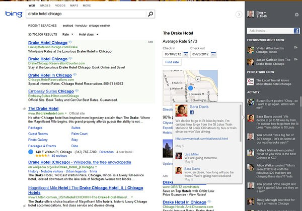 Bing mit neuem User Interface ...