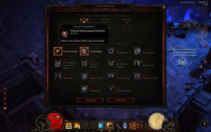 Die passive Fähigkeit darf der Spieler selbst aussuchen.
