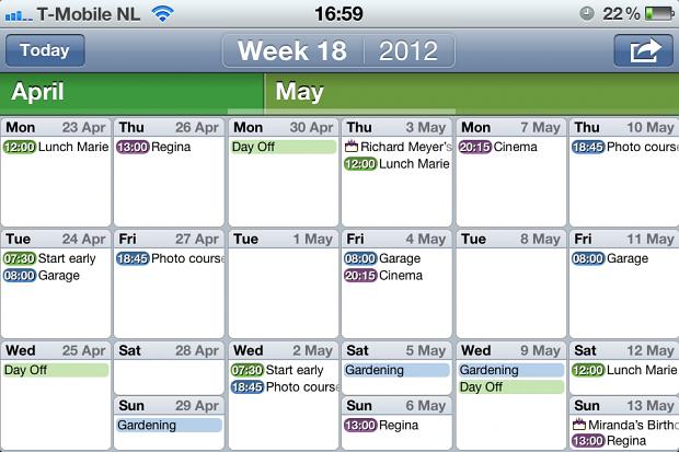 Easy Calendar (Bild: Tom van Zummeren)