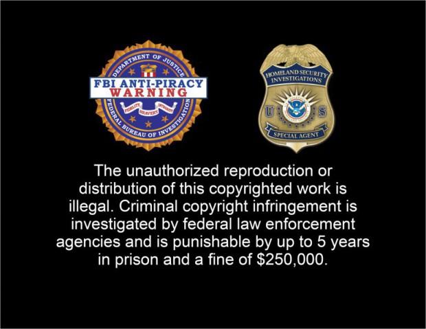 Warnhinweise gegen illegales Kopieren von Filmen auf DVD und Blu-ray