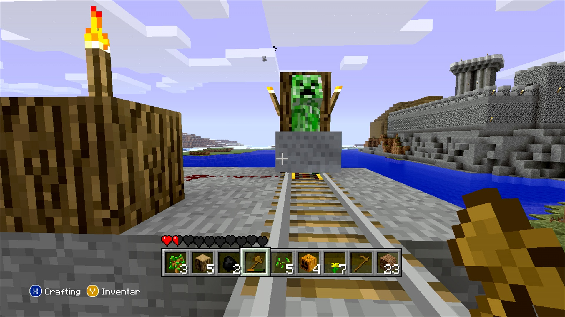 Amazing photo of Minecraft Xbox Edition with #1026B6 color and 1920x1080 pixels