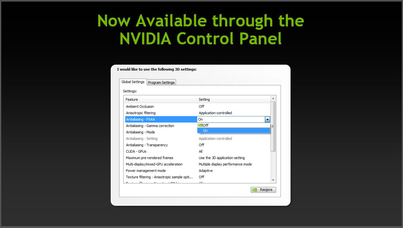 Grafiktreiber: Geforce 301.42 für Desktop und Notebook mit neuen Funktionen - Adaptive V-Sync kann im Treiber eingestellt werden