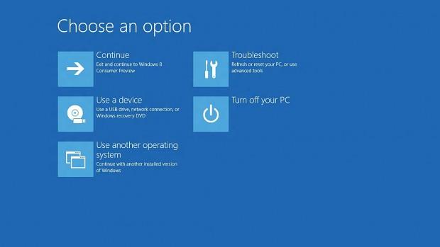 Boot-Optionen unter Windows 8 mit UEFI