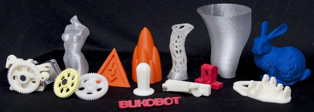 3D-Drucker: Bukobot, der Open-Source-3D-Drucker - Einige mit dem Bukobot gefertigte Objekte (Bild: Diego Porqueras)