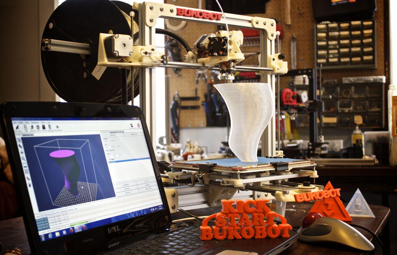 3D-Drucker: Bukobot, der Open-Source-3D-Drucker - Bukobot - Open-Source-3D-Drucker in Aktion (Bild: Diego Porqueras)