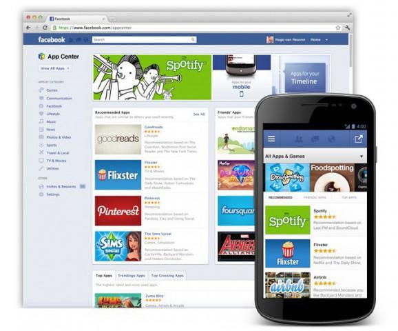 Facebook App Center - ein Appstore für Facebook-Anwendungen (Bild: Facebook)