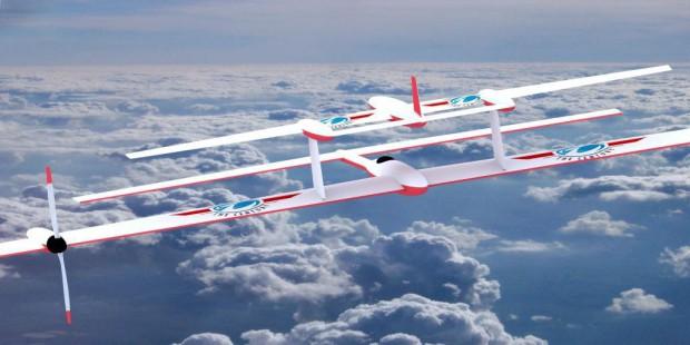 Ein autonom fliegender Akku (oben) soll die Reichweite von  Elektroflugzeugen vergrößern. (Bild: Flight of the Century)