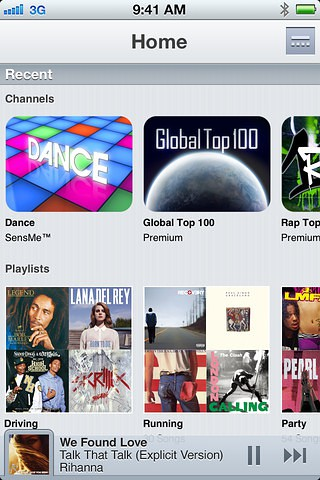 Music Unlimited für iOS (Bild: Sony)