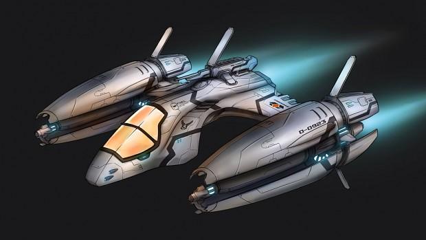 Starlight Inception - Konzeptgrafik eines Jägers (Bild: Escape Hatch Entertainment)