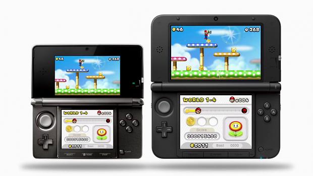New Super Mario Bros 2 auf dem 3DS (l.) und 3DS XL (r.)
