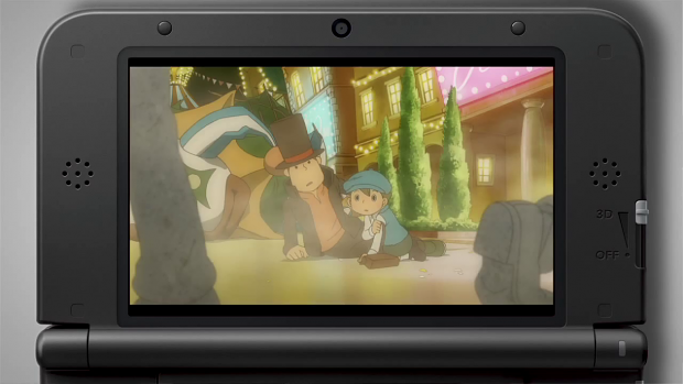 Professor Layton and the Miracle Mask auf dem 3DS XL