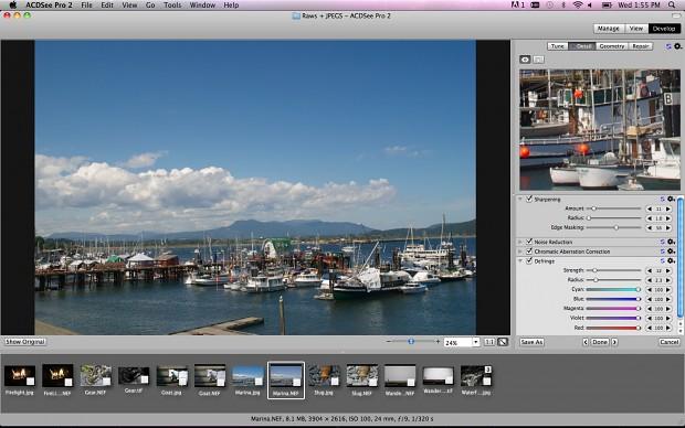 ACDSee 2.0 für Mac  - die neue Bearbeitungsoberfläche (Bild: ACD Systems)