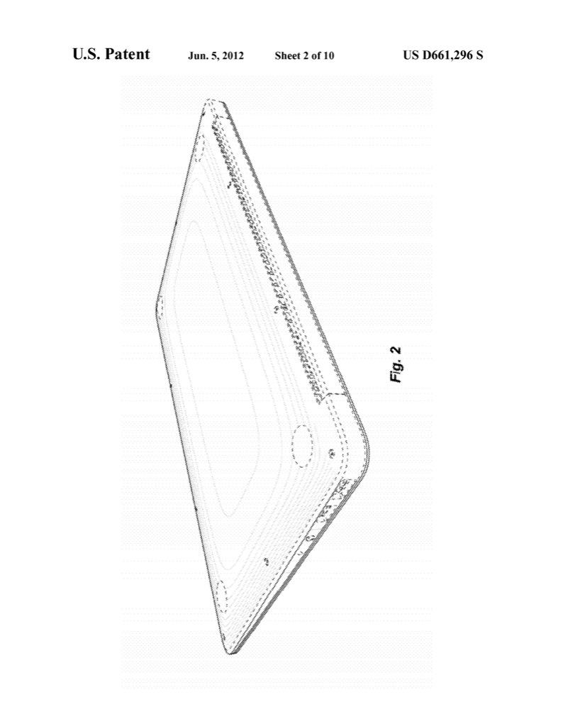 Ultrabooks: Apple erhält umfassendes Design-Patent aufs Macbook Air - Apple Macbook Air im US-Designpatent D661,296