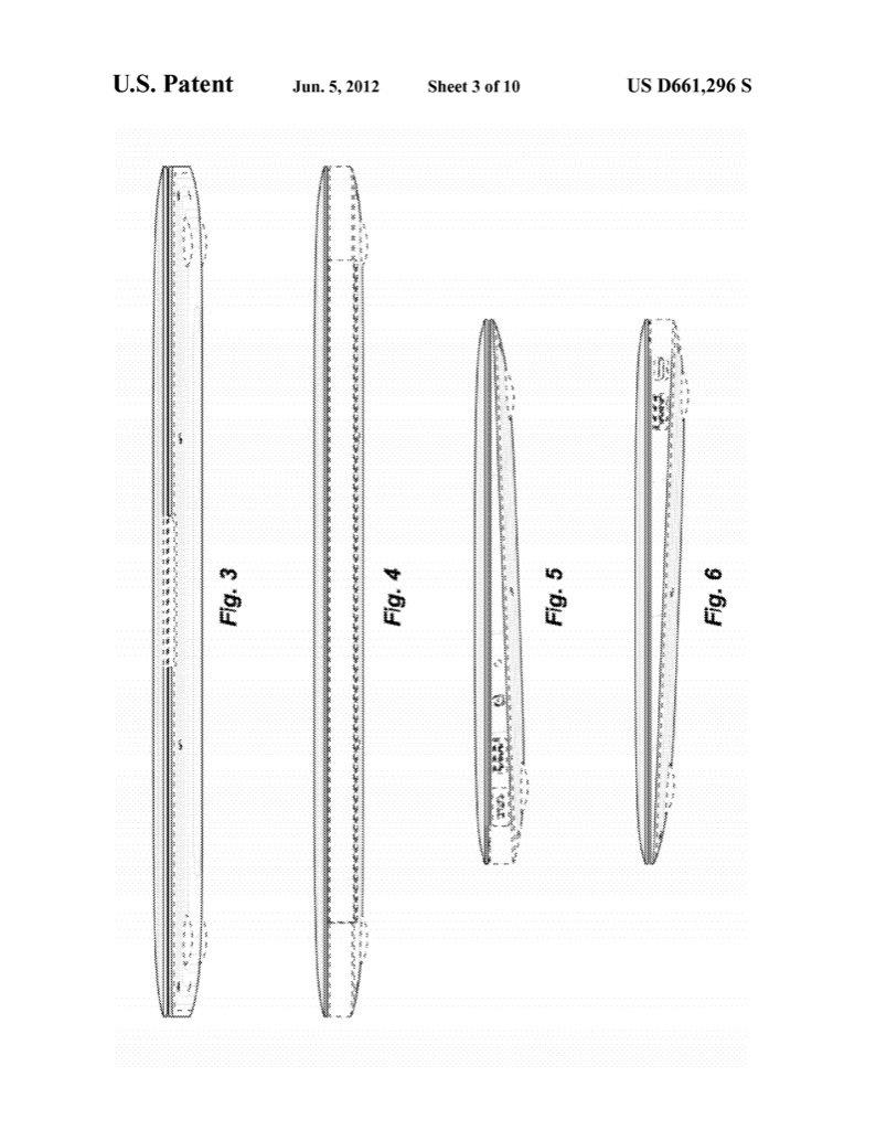 Ultrabooks: Apple erhält umfassendes Design-Patent aufs Macbook Air - Apple Macbook Air im US-Designpatent D661,296