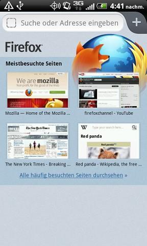 Firefox 14 für Android mit nativem UI