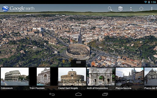 Google Earth 7.0 für Android (Bild: Google)