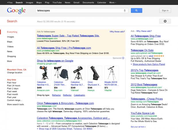 Angebote von Händlern in der Google-Suche