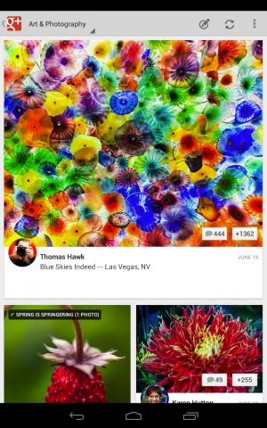 Google+-App für Tablets (Quelle: googleblog.blogspot.de)