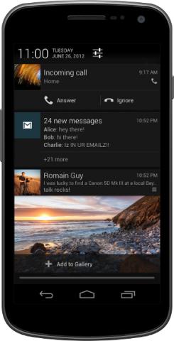 Benachrichtigungen unter Android 4.1