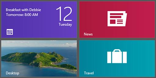 Kalender-Kachel zeigt anstehende Termine an. (Bild: Microsoft)