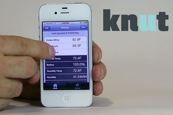 Die iOS-App meldet die Sensortasten, die sie aus den empfangenen E-Mails bezieht. (Bild: Kickstarter)