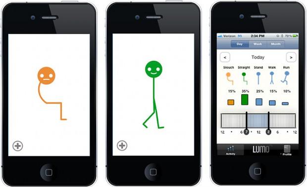 Lumoback-iOS-App (Bild: Kickstarter)