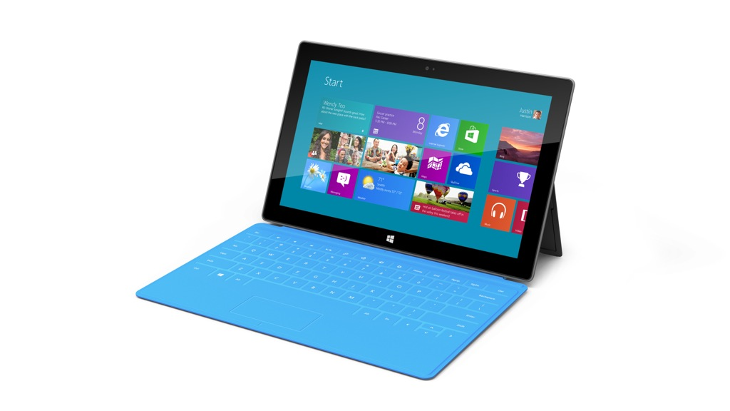 Windows RT: Kostet Microsofts Surface-Tablet nur 199 US-Dollar? - Microsoft Surface mit Touch Cover (Bild: Microsoft)