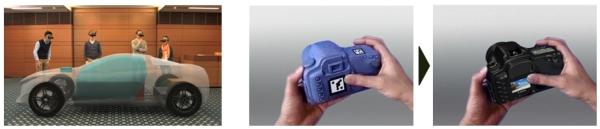Mixed Reality: Canon mischt Realität und 3D in Lebensgröße - Mit Mixed Reality lassen sich 3D-Modelle auf greifbare Dummys projizieren. (Bild: Canon)