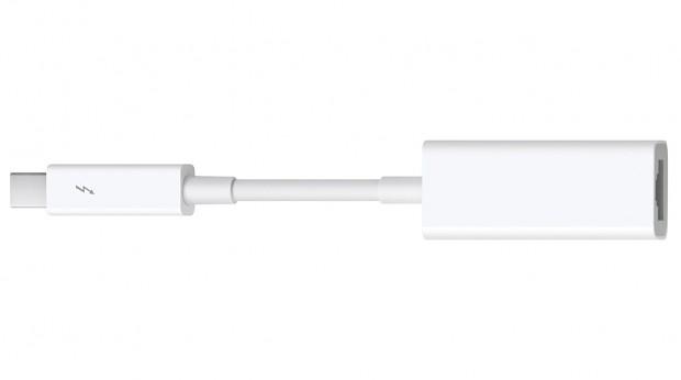 Das Thunderbolt-Update für OS X 10.7.4 unterstützt auch Apples neuen Thunderbolt-zu-Gigabit-Ethernet-Adapter (Bild: Apple)