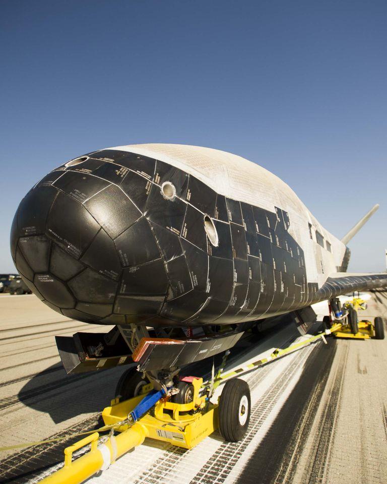 Raumfahrt: Unbemanntes US-Raumfahrzeug X-37B startet wieder - Es dient zum Testen von Raumfahrttechnik, wahrscheinlich aber auch zur Spionage. (Foto: Boeing)