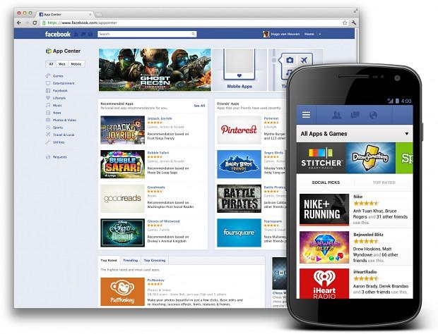 Das Facebook App Center ist da - in Deutschland muss aber noch einige Wochen darauf gewartet werden (Bild: Facebook)