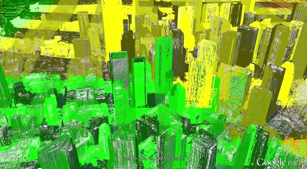 Google wandelt Luftbilder in 3D-Landschaften um (Bild: Google)