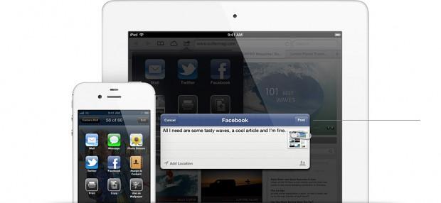 Facebook in iOS 6 integriert