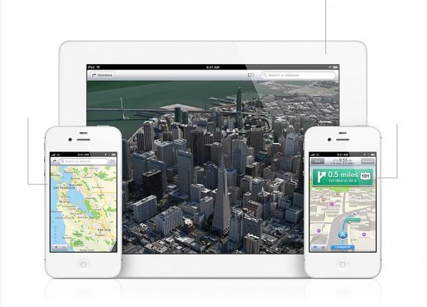 Neue Maps-App mit 3D-Ansicht