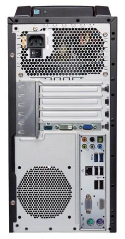 Anschlüsse des neuen Aldi-PCs (Bilder: Medion)