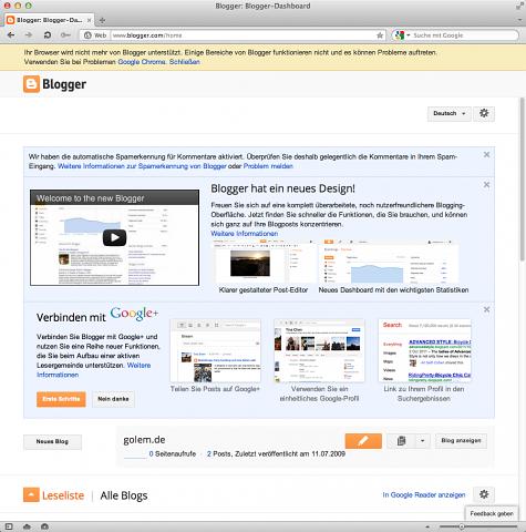 Bloggermeldung beim Login mit Opera (Screenshot: Andreas Donath/Golem.de)