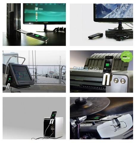 Chargecard in verschiedenen Einsatzszenarien (Bild: Kickstarter)