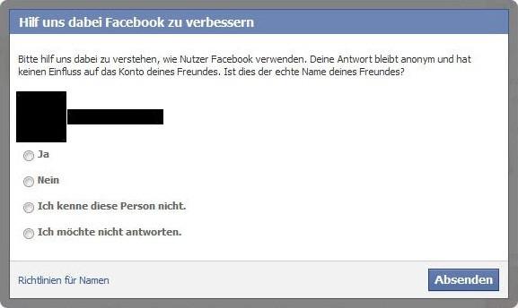 Nachfrage von Facebook