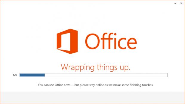 Office wird installiert...