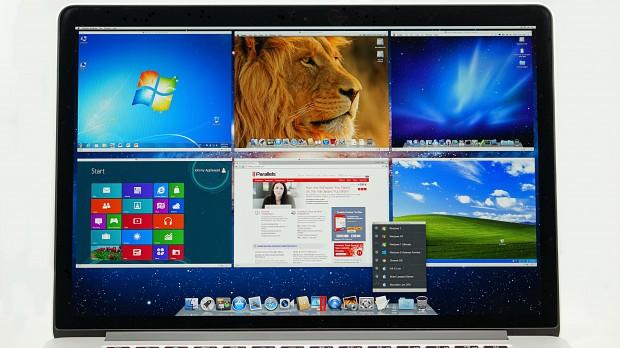 Parallels 7 auf dem Macbook Pro Retina (Bild: Parallels)