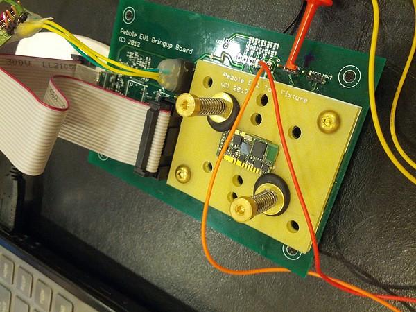 Das Pebble-Board in einer Testeinrichtung.
