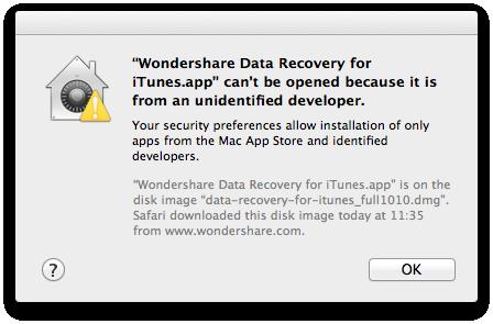 Mac OS X 10.8 Mountain Lion im Test: Apples Desktop-iOS mit komplizierter iCloud - Diese Anwendung wurde in den Standardeinstellungen geblockt.