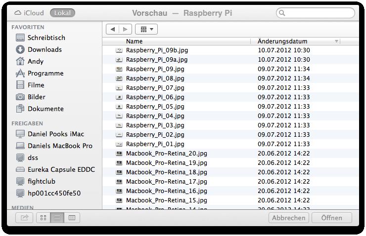 Mac OS X 10.8 Mountain Lion im Test: Apples Desktop-iOS mit komplizierter iCloud - Die Vorschau kann nicht nur lokale,...