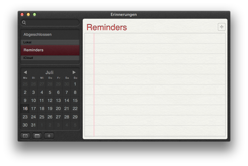 Mac OS X 10.8 Mountain Lion im Test: Apples Desktop-iOS mit komplizierter iCloud - Erinnerungen.