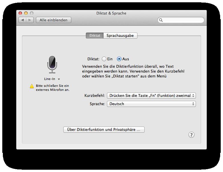 Mac OS X 10.8 Mountain Lion im Test: Apples Desktop-iOS mit komplizierter iCloud - Diktieroptionen