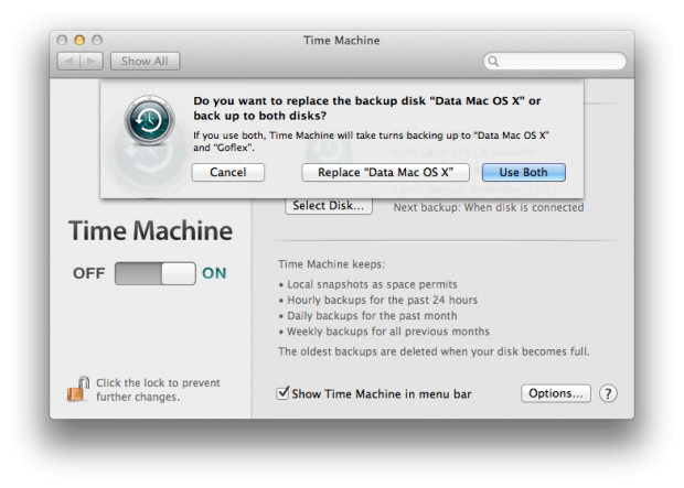 Backups können nun auf mehrere Datenträger verteilt werden.