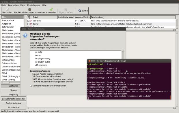 Über SSH lassen sich auch grafische Anwendungen unter Linux starten.